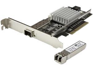 StarTech PEX10000SRI 1-Port 10G Open SFP+ Fiber Optic Network Card - PCIe - Intel Chip - MM - PCI Express 10G NIC with Multimode Transceiver