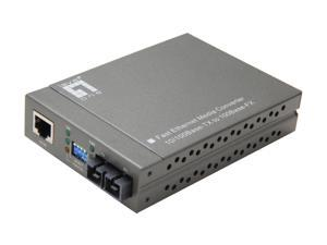 LevelOne FVT-4001 10/100BaseTX to 100FX Media Converter
