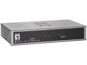 LevelOne FEU-0511 Unmanaged 4 FE + 1 FE MMF SC Switch