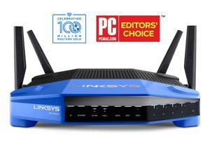Linksys WRT1900AC Wireless AC Dual Band Router AC1900, Open Source ready, eSATA/ USB 3.0 Ports