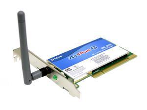 D-Link DWL-G510 32-bit PCI High Speed Wireless Adapter