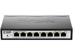 D-Link 8-Port EasySmart Gigabit Ethernet Switch - Lifetime Warranty (DGS-1100-08)