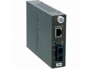 TRENDnet TFC-110S15i Intelligent 10/100Base-TX to 100Base-FX Single Mode SC Fiber Converter