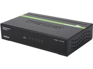 TRENDnet TEG-S50G Unmanaged 5-Port Gigabit GREENnet Switch. Limited Life Time Warranty