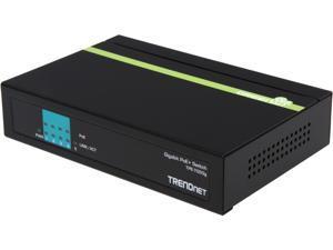 TRENDnet TPE-TG50g Switches  4 to 10 Ports 5-Port Gigabit PoE+ Switch