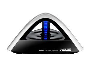 ASUS EA-N66 Dual-Band Wireless-N900, 3 in 1 Access Point/Repeater/Gigabit Ethernet Adapter IEEE 802.11a/b/g/n 1 x RJ-45 Ethernet port Up to 450Mbps downlink + 450Mbps uplink Wireless