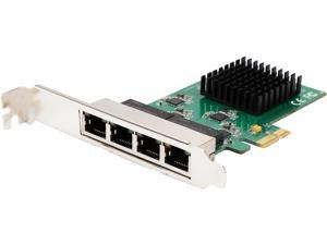SYBA SI-PEX24042 10/100/1000 Mbps PCI-e x1 4 Port Gigabit Ethernet PCI-e x1 Network Interface Card