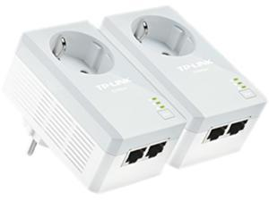 TP-LINK TL-PA4020PKIT AV500 2-Port Powerline Adapter with AC Pass Through Starter Kit Up to 500Mbps
