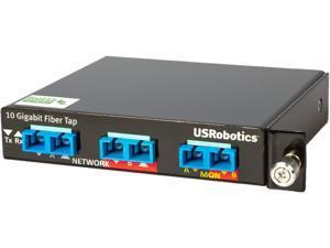 U.S. Robotics USR4515LC 10/1 Gigabit SR/SX Multi-Mode Fiber Network Tap (50 Micron 50/50 Split LC Connectors)