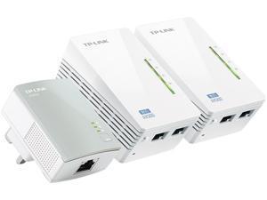 TP-LINK TL-WPA4220TKIT Powerline WiFi Extender with 2 LAN port
