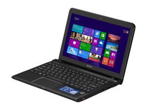 "SONY VAIO SVE11125CXB AMD Dual Core Processor E2-1800 1.7GHz 11.6"" Windows 8 64-bit Notebook"