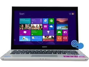 "SONY VAIO T Series SVT13137CXS Intel Core i5 6GB Memory 128GB SSD 13.3"" Touchscreen Ultrabook Windows 8 64-Bit"