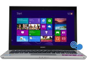"SONY VAIO T Series SVT13138CXS Intel Core i7 8GB Memory 256GB SSD 13.3"" Touchscreen Ultrabook Windows 8 64-Bit"