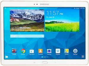 "SAMSUNG Galaxy Tab S 10.5 - Exynos 5 Octa Core 3 GB Memory 16 GB 10.5"" Touchscreen Tablet Android 4.4, Dazzling White (SM-T800NZWAXAR)"