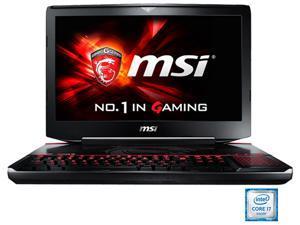 """MSI GT Series GT80S TITAN SLI-072 Gaming Laptop Intel Core i7 6920HQ (2.90 GHz) 32 GB Memory 1 TB HDD 512 GB SSD NVIDIA GeForce GTX 980 SLI 16 GB GDDR5 (8 GB each) 18.4"""" Windows 10 Home"""