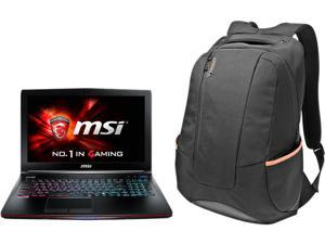 "MSI GT Series GE62 2QL-251AU (BUN) Gaming Laptop Intel Core i7-5700HQ 2.7 GHz 15.6"" Windows 8.1 and free Bag Bundle"