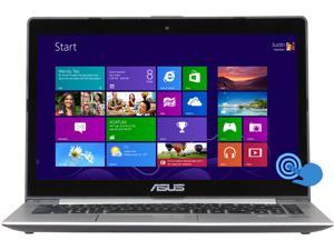 "ASUS VivoBook S400CA-RSI5T18 Intel Core i5 3rd Gen 3317U (1.70 GHz) 4 GB Memory 500 GB HDD 14"" Touchscreen 1366 x 768 2-in-1 Laptop Windows 8 64-Bit"