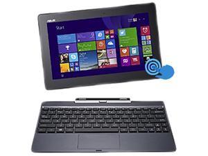 "ASUS Transformer Book T100 Intel Z3775 Quad Core 2GB DDR3 RAM 64GB SSD 10.1"" Touchscreen Tablet w/Dock, Windows 8.1- Red ..."