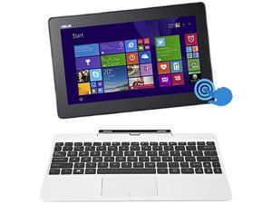 "ASUS Transformer Book T100 Intel Z3775 Quad Core 2GB DDR3 RAM 64GB SSD 10.1"" Touchscreen Tablet w/Dock, Windows 8.1- White ..."