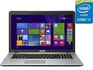 """ASUS X751LX-DB71 Gaming Laptop Intel Core i7 5500U (2.40 GHz) 8 GB Memory 1 TB HDD NVIDIA GeForce GTX 950M 2 GB GDDR3 17.3"""" Windows 8.1 64-Bit"""