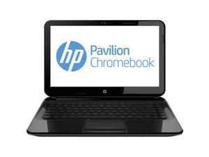 "HP Chromebook 14 (J2L43UA#ABA) Chromebook Intel Celeron 2955U (1.40 GHz) 4 GB Memory 16 GB SSD 14.0"" Chrome OS"