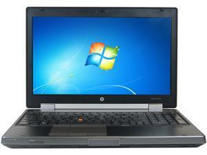 """HP Laptop 8560W Intel Core i7 2720QM (2.20 GHz) 4 GB Memory 256 GB SSD 15.6"""" Windows 7 Professional 64-bit"""
