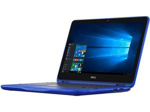 "DELL Inspiron i3168-0028BLU 2-in-1 Laptop Intel Celeron N3060 (1.60 GHz) 32 GB eMMC Intel HD Graphics Shared memory 11.6"" Touchscreen Windows 10 Home 64-Bit"