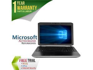 """DELL Laptop E5520 Intel Core i5 2410M (2.30 GHz) 4 GB Memory 160 GB HDD Intel HD Graphics 3000 15.6"""" Windows 10 Pro"""