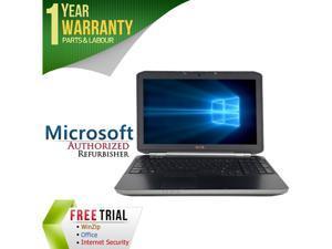 "DELL Laptop E5520 Intel Core i5 2410M (2.30 GHz) 4 GB Memory 160 GB HDD 15.6"" Windows 7 Professional 64-Bit"
