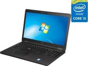 "DELL Laptop Latitude E5550 (NJ12M) Intel Core i5 5300U (2.30 GHz) 4 GB Memory 500 GB HDD Intel HD Graphics 5500 15.6"" Windows 7 Professional 64-Bit (Includes Windows 8.1 Pro license and media)"