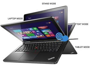 "ThinkPad Yoga 20CD0032US Intel Core i5 4GB Memory 128GB HDD 128GB SSD 12.5"" Touchscreen Ultrabook Windows 8.1"