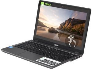 "Acer C720P-2625 Chromebook Intel Celeron 2955U (1.40 GHz) 4 GB DDR3L Memory 16 GB SSD Intel HD Graphics 11.6"" Touchscreen1366 x 768 Chrome OS 64-Bit"