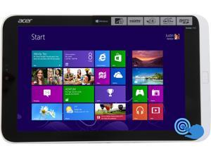 "Acer Iconia W3-810-1600 8.1"" Touchscreen Tablet, Dual Core Intel Atom Z2760 1.5Ghz, 2GB LPDDR2, MicroSD Slot, 32GB Flash Memory, Built-in WiFi, Bluetooth, Micro HDMI, Micro USB, Windows 8"