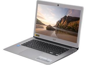 "Refurbished: Acer CB3-431-C5EX Chromebook Intel Celeron N3160 (1.60 GHz) 4 GB Memory 32 GB eMMC 14.0""  Chrome OS ..."
