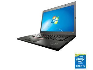 """ThinkPad Laptop T Series T450 (20BV000BUS) Intel Core i5 4300U (1.90 GHz) 4 GB Memory 500 GB HDD Intel HD Graphics 4400 14.0"""" 1366 x 768 Windows 7 Pro 64-Bit downgrade rights in Windows 8.1 Pro 64-Bit"""