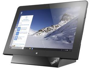 "Lenovo ThinkPad 10 20E3000UUS Tablet Intel Atom x7-Z8700 (1.60 GHz) 4 GB Memory 128 GB Flash Storage Intel HD Graphics 10.1"" IPS 1920 x 1200 Windows 10 Pro"