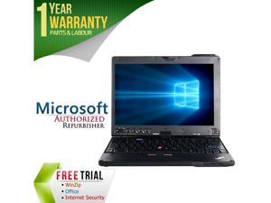 "Lenovo Laptop ThinkPad X200T Intel Core 2 Duo SL9400 (1.86 GHz) 4 GB Memory 160 GB HDD 12.1"" Windows 7 Professional 64-Bit"