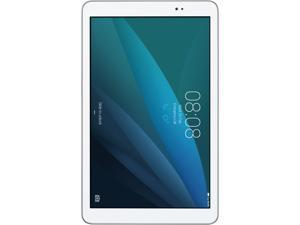 "Huawei MediaPad T1 10.0 Quad Core 9.6"" Android (KitKat) + EMUI Tablet 8 GB, Silver/White (US Warranty)"