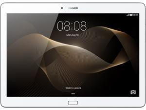 "Huawei + Harman Kardon MediaPad M2 10.0 Quad Core 9.6"" Android (Lollipop) + EMUI Tablet 16 GB, Silver/White (US Warranty)"
