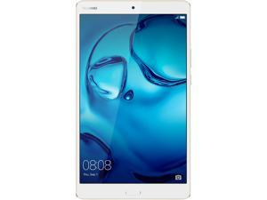 "Huawei + Harman Kardon MediaPad M3 8.0 Octa Core 8.4"" 2560 x 1600 Android (Marshmallow) + EMUI Tablet 4 GB Memory 64 GB Flash with AKG H300 Earphones, Gold/White (US Warranty)"