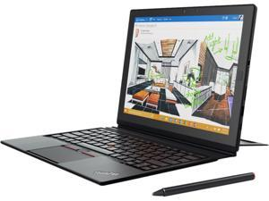 "ThinkPad X1 (20GG001NUS) 2-in-1 Laptop Intel Core M7 6Y75 (1.20 GHz) 8 GB Memory 256 GB SSD Intel HD Graphics 515 12"" Touchscreen 2160 x 1440 2 MP Front / 8 MP Rear Camera Windows 10 Pro 64-Bit"