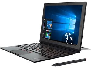"Lenovo Thinkpad X1 20GG001NUS Intel Core M7 6Y75 (1.20 GHz) 8 GB Memory 256 GB SSD 12"" Touchscreen 2160 x 1440 Detachable 2-in-1 Laptop Windows 10 Pro 64-Bit with ThinkPad Pen Pro"