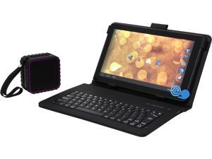 "Hipstreet Phoenix 10"" Android Tablet Bundle - Quad Core CPU 1GB Memory 16GB Tablet/Keyboard/BT Speaker Bundle (10DTB12-16BND1)"