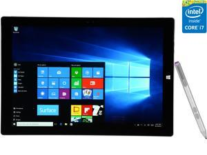 "Microsoft Surface Pro 3 Intel Core i7 4650U (1.70 GHz) 8 GB Memory 256 GB SSD 12.0"" 2160 x 1440 Tablet PC Windows 10 Pro Silver"