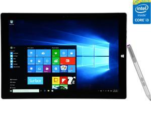 "Microsoft 12.0"" Surface Pro 3 Intel Core i3 4020Y (1.5 GHz) 4 GB Memory Windows 10 Pro Tablet PC"
