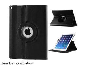 WXG Black 360 Rotating Folio Leather Ultra Smart Stand Case Cover for Apple iPad Air/Air 2 Bulk Model FOLIOAIR2BK
