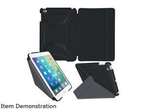 rooCASE Granite Black Origami 3D Slim Shell Folio Case Cover for iPad Mini 4 Model RC-APL-MINI4-OG-SS-GB/GM