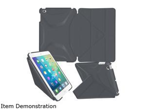 rooCASE Space Gray Origami 3D Slim Shell Folio Case Cover for iPad Mini 4 Model RC-APL-MINI4-OG-SS-SG/GM