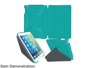 rooCASE Turquoise Blue Origami 3D Slim Shell Folio Case Cover for iPad Mini 4 Model RC-APL-MINI4-OG-SS-TB/GM