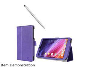 i-Blason Purple Asus Memo Pad 8 181C Case - Slim Book Leather Cover Model Asus-Memopad8-181-1Fold-Purple